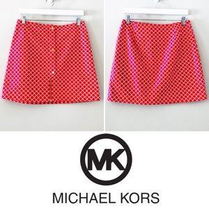 MICHAEL Michael Kors Red Patterned Skirt